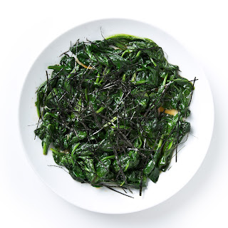 Sautéed Spinach with Soy and Sesame.
