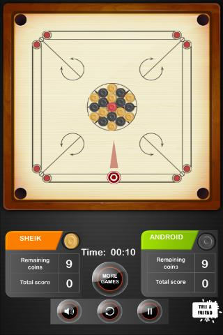 Carrom Board Game - screenshot