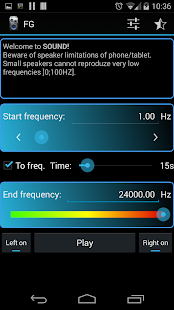 Frequency Sound Generator - screenshot thumbnail