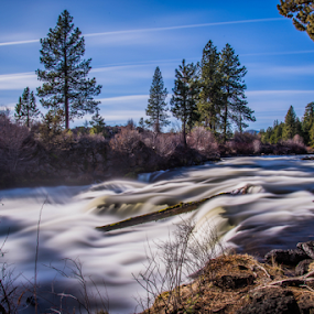 dillon falls by James Case - Landscapes Waterscapes ( forests, nature, falls, landscapes, river )