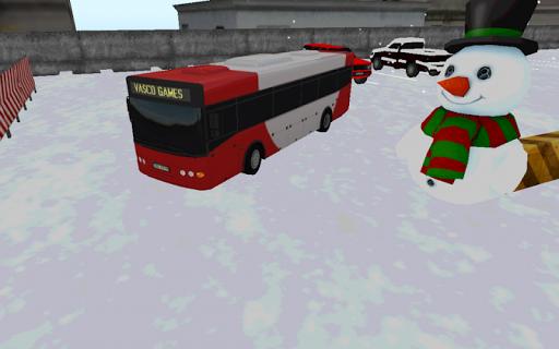 公車冬天停車場 - 3D遊戲