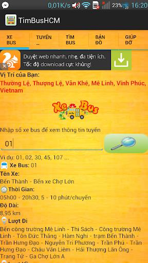 Tìm Xe Bus HCM android buýt