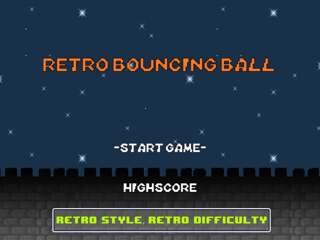 Retro Bouncing Ball - screenshot