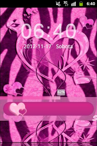 GO Locker Pink Zebra Heart - screenshot