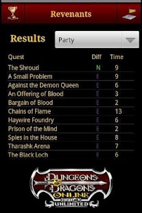 DDO Fastest Times - screenshot thumbnail