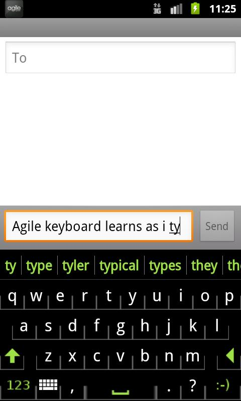 Agile Keyboard Free - screenshot