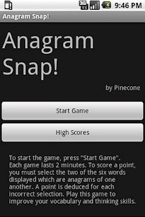 Anagram Snap - screenshot thumbnail
