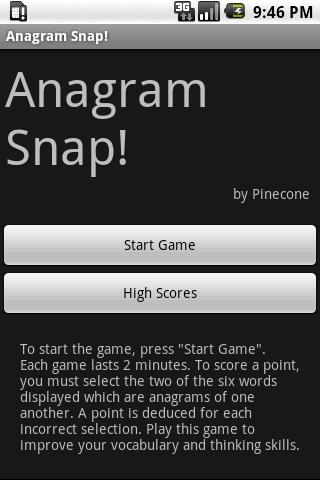Anagram Snap - screenshot