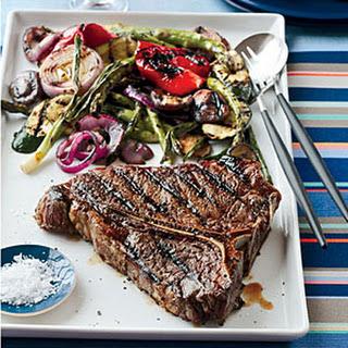 Grilled Porterhouse Steak with Summer Vegetables