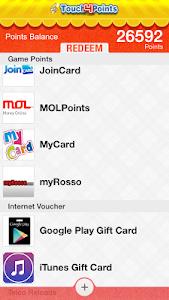 Touch4Points - Gift/Game Cards screenshot 2