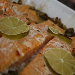 Salmon on a Bed of Leeks Recipe