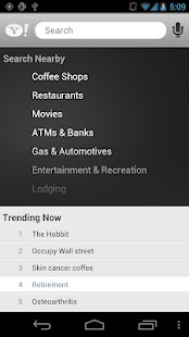 Yahoo Search Application - screenshot thumbnail