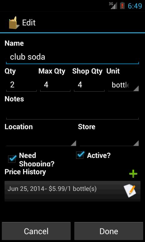 Grocery Helper - Lite - screenshot
