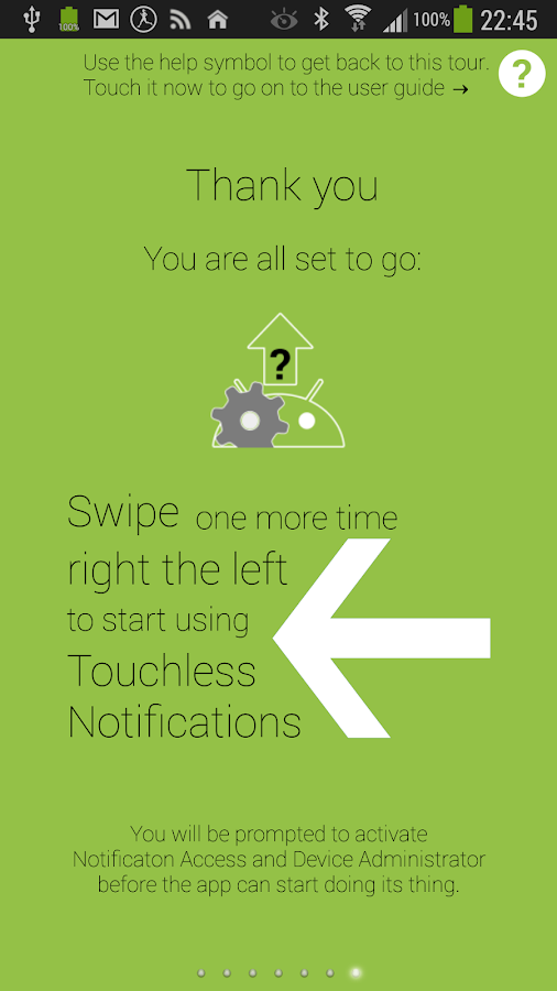 Touchless Notifications Free - screenshot