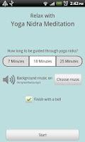 Screenshot of Yoga Nidra Meditation