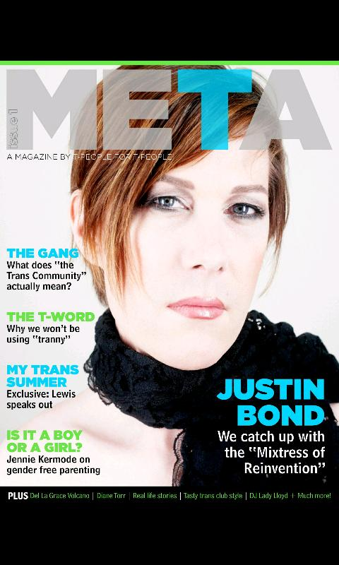 Meta Magazine - screenshot