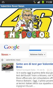 Valentino Rossi News - screenshot thumbnail
