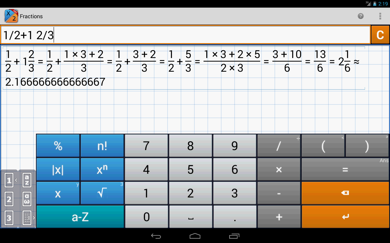 Fraction Calculator PRO/EDU - screenshot