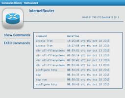 Screenshot of Router Cisco Commands History