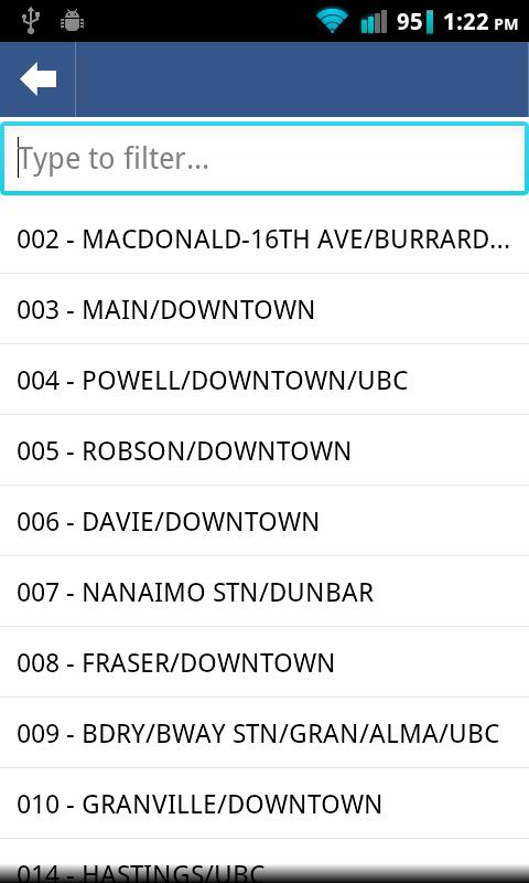 LiveTransit Vancouver- screenshot