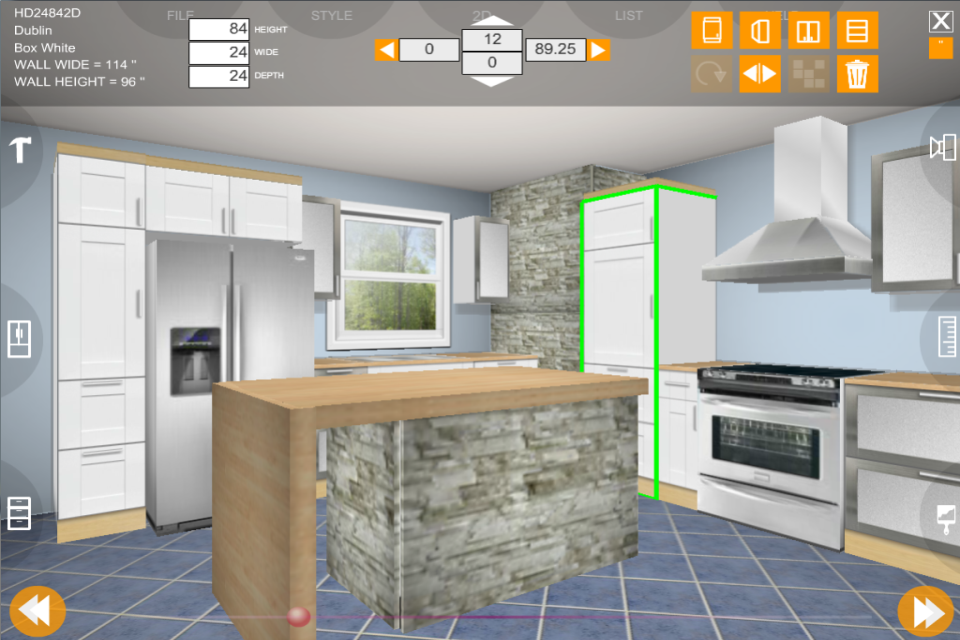 Eurostyle Kitchen 3D design- screenshot