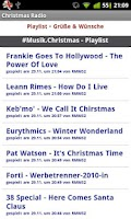 Screenshot of Christmas Radio