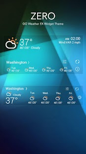 ZERO THEME GO WEATHER- screenshot thumbnail