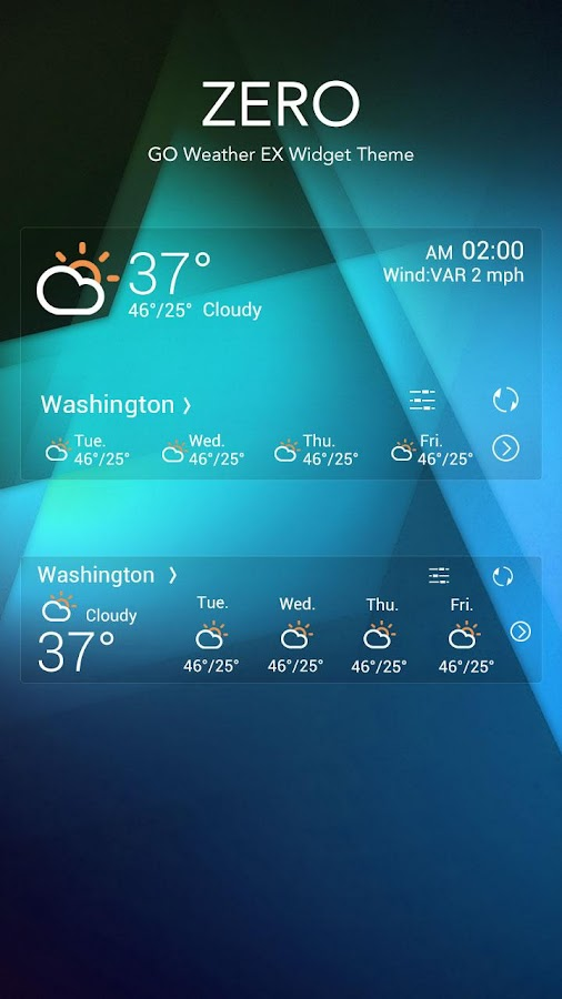 ZERO THEME GO WEATHER- screenshot