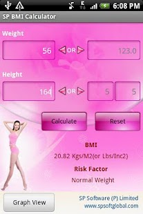 SP BMI Calculator - screenshot thumbnail
