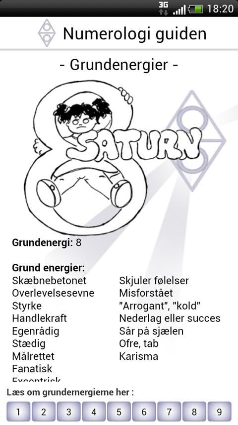 Numerologi Guiden- screenshot
