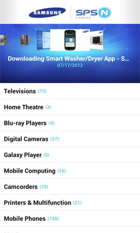 Samsung SPSN Canada - screenshot