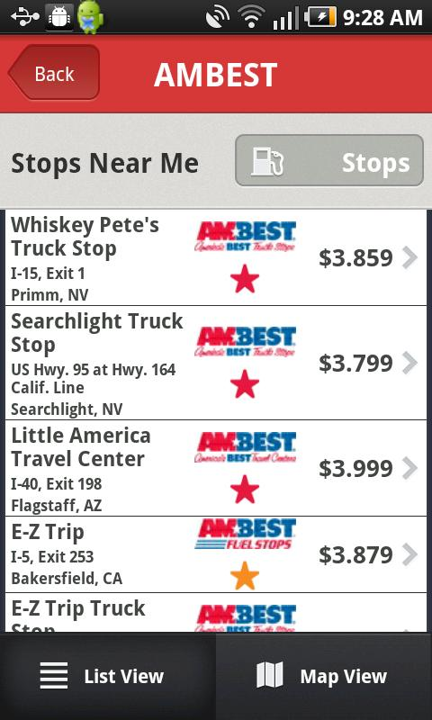 AMBEST Android Apps On Google Play - Map of truck stops in us