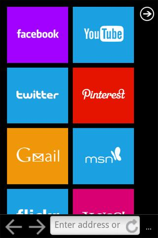 Best Browser (WP7 Style) - screenshot