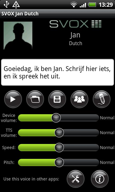 SVOX Dutch Jan Voice - screenshot
