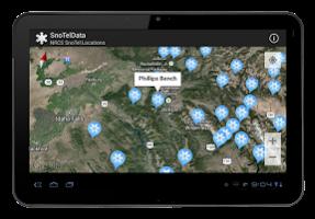 Screenshot of SnoTel NRCS & RFC Stations