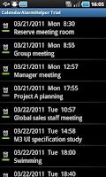 Screenshot of CalendarAlarmHelper