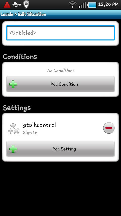 Locale gtalkcontrol Plug-in - screenshot