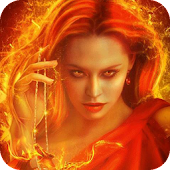 Fiery witch live wallpaper
