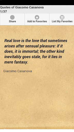 Quotes of Giacomo Casanova