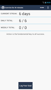 Daily Goal Tracker | Log - screenshot thumbnail