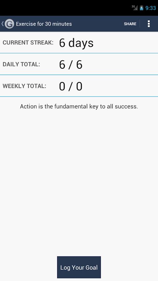 Daily Goal Tracker | Log - screenshot