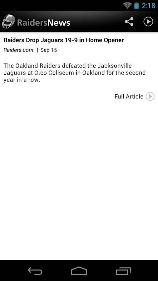Raiders News - screenshot