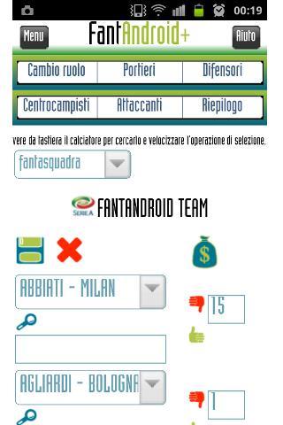 FantAndroid fantasy soccer - screenshot