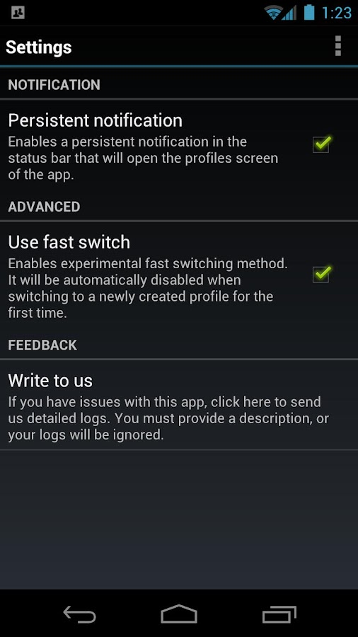 SwitchMe Multiple Accounts Key- screenshot