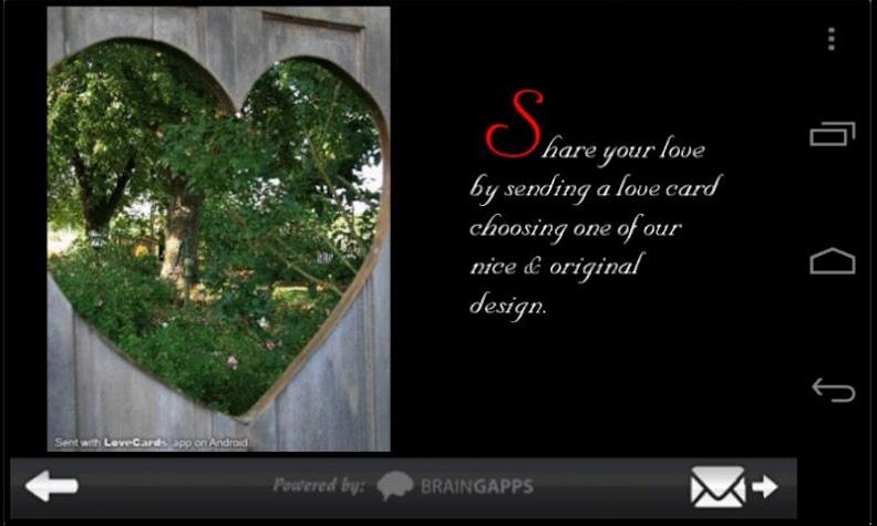 Love Cards Pro Version Screenshot