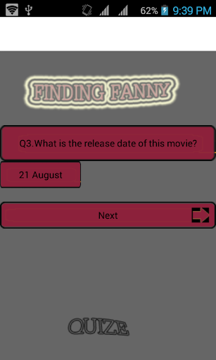 Find --Fanny movie quize