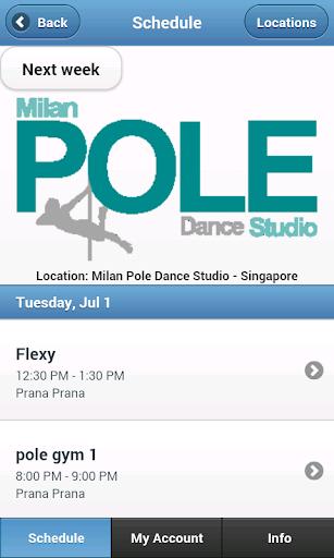 Milan Pole Dance Singapore