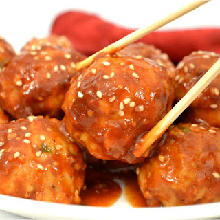 Spicy Asian Chicken Meatballs.