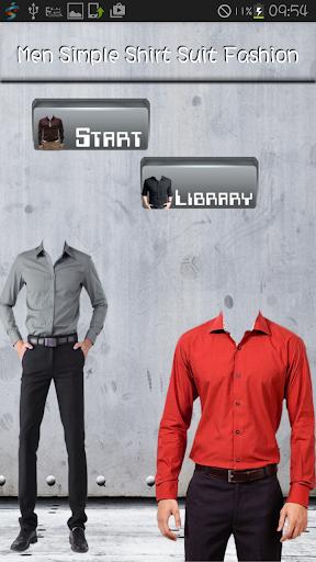 Men Simple Shirt Suit Fashion