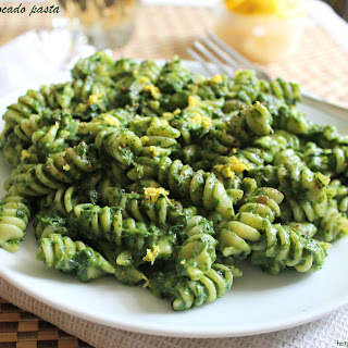 Spinach Avocado Pasta.